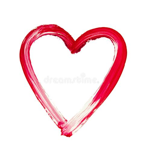painted heart symbol  love stock photography image
