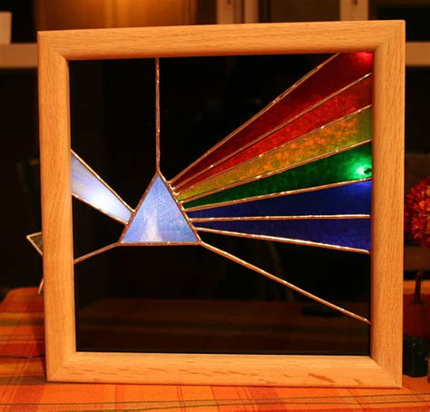 glass christmas light box pink floyd dark side of the moon stained glass light box