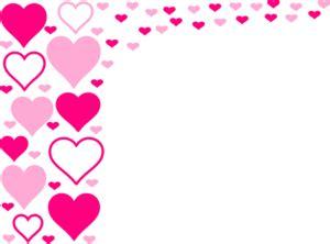pink hearts border clip art  clkercom vector clip art