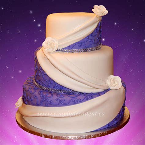 tier purple fondant wedding cake cakecentralcom