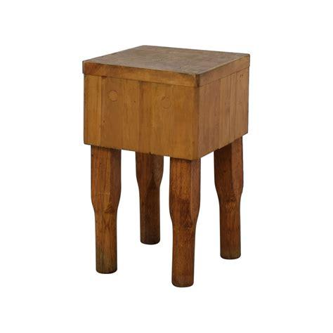 51% Off  Vintage Antique Butcher Block Table Tables