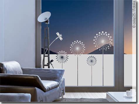 Fenster Sichtschutzfolie by Sichtschutzfolie Moderne Pusteblume Fenster Folie