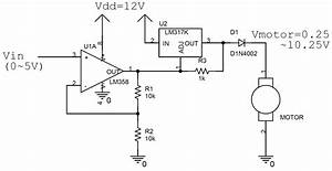 Speed Controller Schematic Lm317   Lm358 In 2019