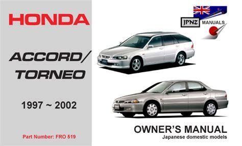 auto repair manual online 2002 honda accord instrument cluster honda accord torneo 1997 2002 car owners manual