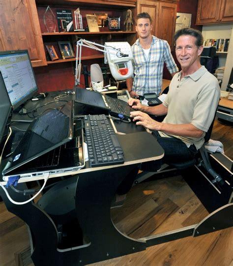 exercise equipment for desk jobs desk bike marketer pushes on the job fitness money