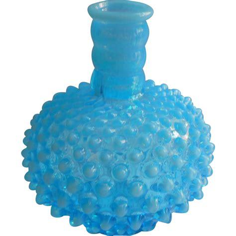 fenton l base fenton l base opalescent hobnail turquoise blue vintage