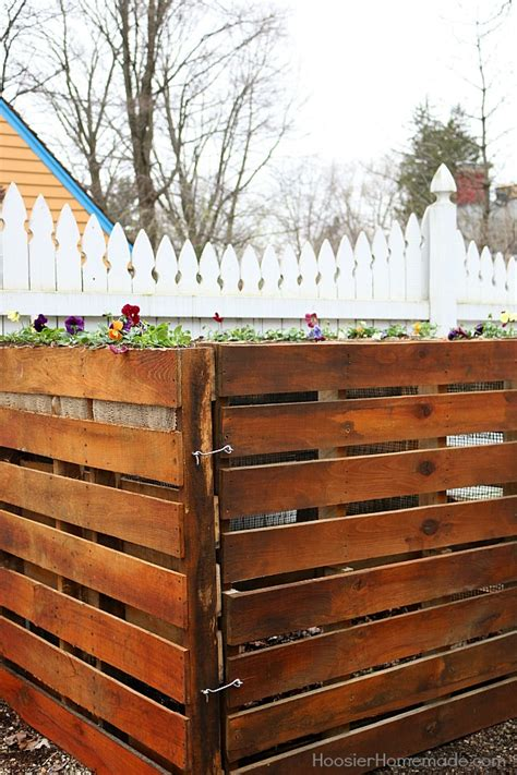 wooden pallet compost bin hoosier homemade
