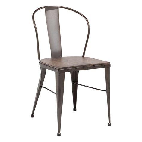 chaise métal chaise industrielle vintage en métal 631 4 pieds