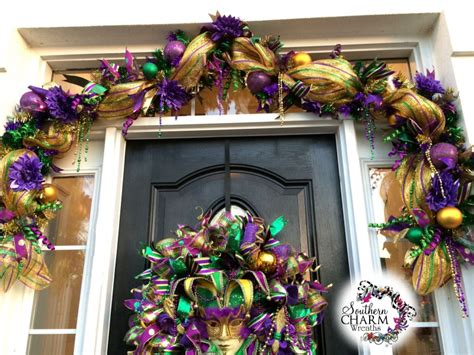 how to make mesh garland with lights decorate your door for mardi gras