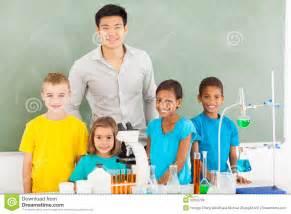 Elementary School Teacher and Students