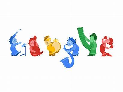 Google Cartoon Doodle Speaker Musical Cloudygif Birthday