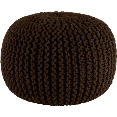 knitted ottomans knitted cable style dori pouf chocol floor