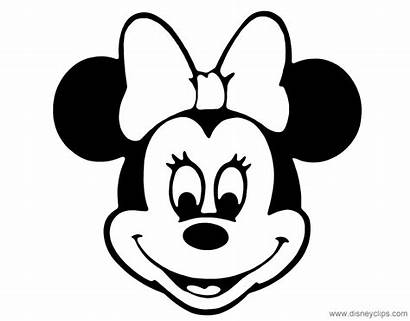 Minnie Mouse Coloring Face Pages Disney Cartoon