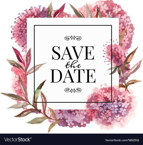 wedding invitation card  watercolor flowers vector image