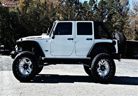 jeep wrangler fuel full blown  wheels gloss white