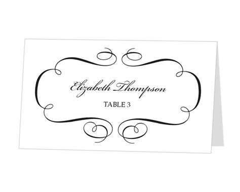 printable place card template instant  escort