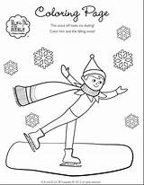 Elf Shelf Coloring Drawing Refrigerator Sheets Female Printable Pole Scout Boy North Elves Skating Ice Dumbbell Blizzard Getcolorings Snow Step sketch template