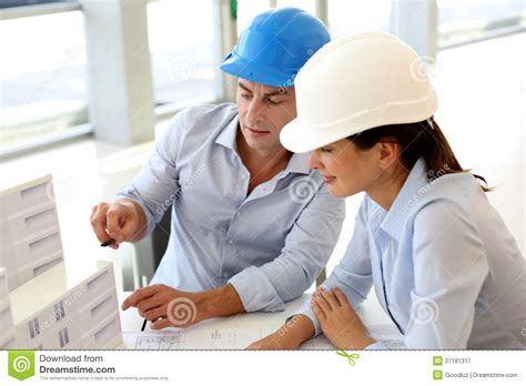 Architects At Work Stock Image Image Of Discussion