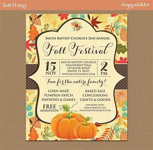 Fall Festival Instant Download Invitation    Pumpkin Patch