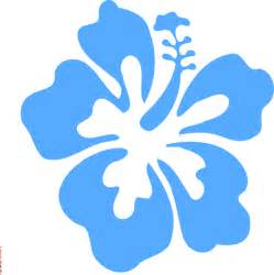 Blue Hibiscus Flower Clip Art
