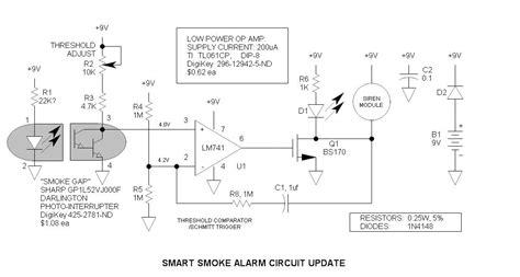 Smoke Alarms Projects Circuits