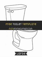 Toilet Printable Template Templates Printables Toilets Discover Flush sketch template