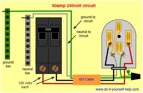 wiring diagram for a 50 240 volt circuit breaker electrical in 2019 house wiring