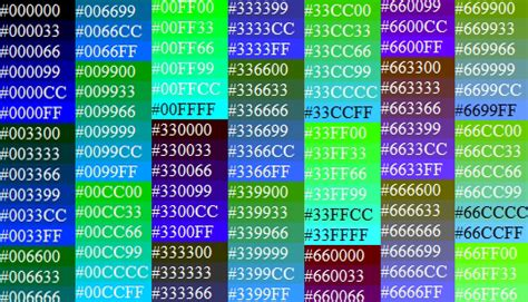 computer color codes web safe color codes and web standard color names for your