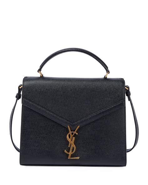 saint laurent cassandra grained shoulder bag neiman marcus