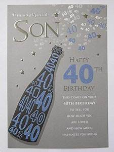 40th Birthday Ideas For Son Special Son Birthday Cards