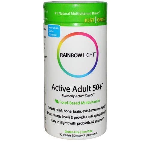 rainbow light multivitamin review rainbow light just once active 50 food based