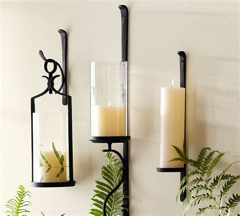 wall candle holders artisanal wall mount candleholder pottery barn