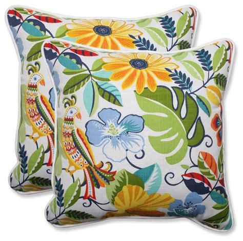 tropical outdoor pillows lensing garden throw pillows set of 2 tropical