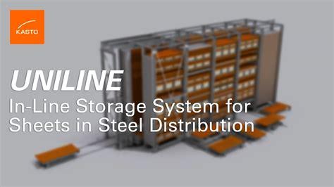 storage system sheet metal storage system kasto uniline   minutes youtube