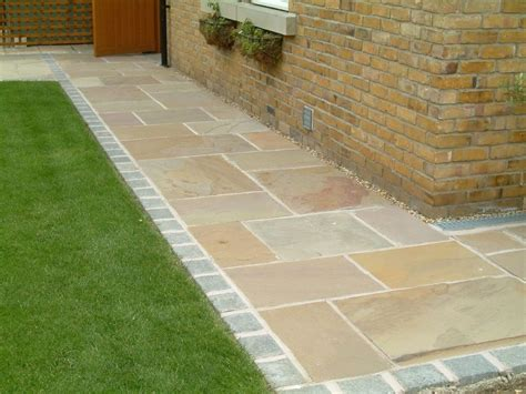 slabbed patio designs indian sandstone paving natural stone patio flags garden slabs 19m2 pack gardens patios