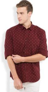 flipkart buy highlander mens printed casual maroon shirt