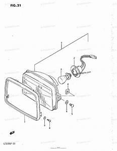 Suzuki Atv 1987 Oem Parts Diagram For Headlamp