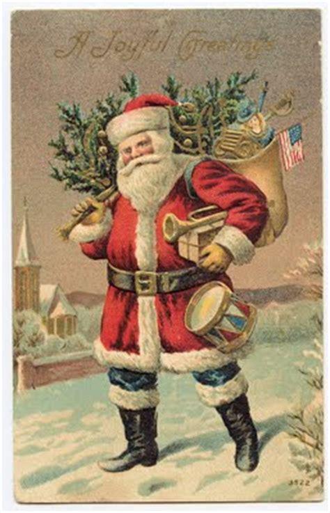 victorian clip art santa clause  red