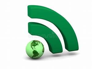 Green WiFi symbol stock illustration. Illustration of ...