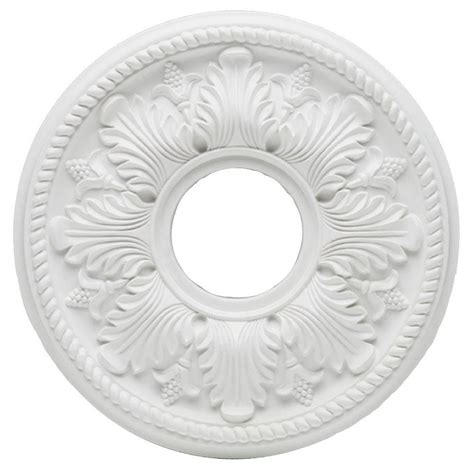 westinghouse split ceiling medallion westinghouse bellezza 14 in white ceiling medallion