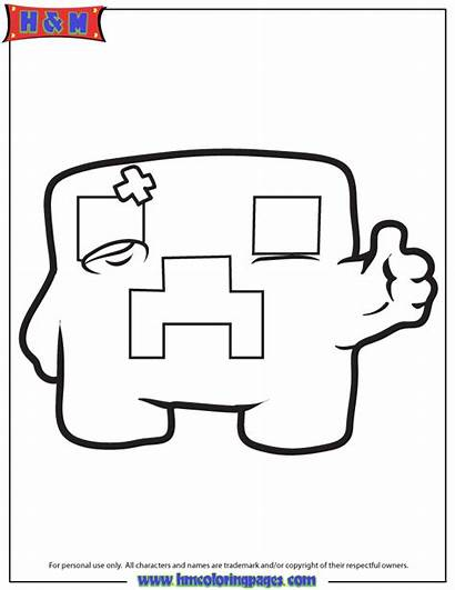 Minecraft Coloring Creeper Printable Train Getcoloringpages Birthday
