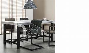 Table A Manger Beton : table manger industriel en b ton et acier ~ Teatrodelosmanantiales.com Idées de Décoration