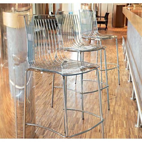 tabouret haut de cuisine un tabouret de bar transparent chic et modernité