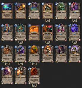 legendary deck hearthstone