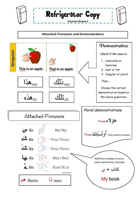 fridge copy grammar review sheet arabic attached
