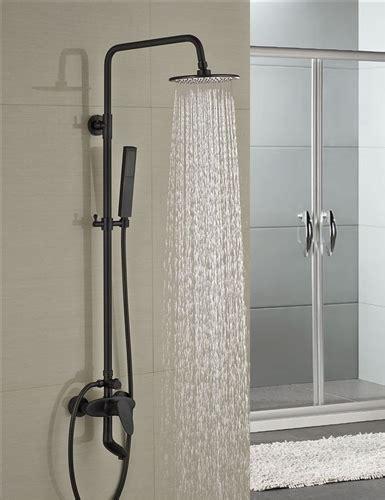 Bathroom Shower Fixture Sets by Milo Style Rubbed Bronze Shower Faucet Set