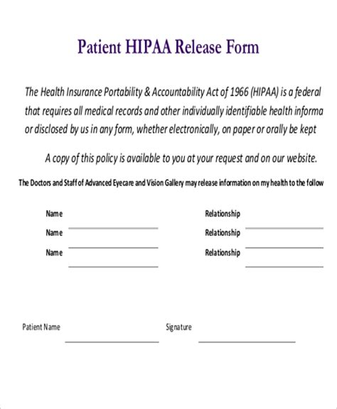 sle hipaa release forms 10 free documents in pdf