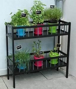 Meuble De Balcon : meuble aromates pour disposer les plantes aromatiques ~ Premium-room.com Idées de Décoration