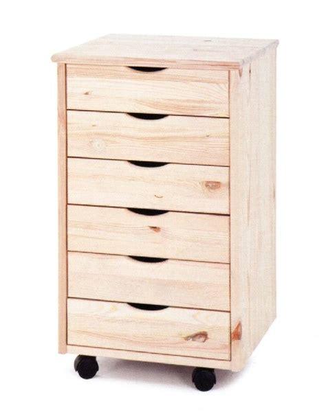 cassettiere in legno grezzo market legno cassettiera roller in legno grezzo