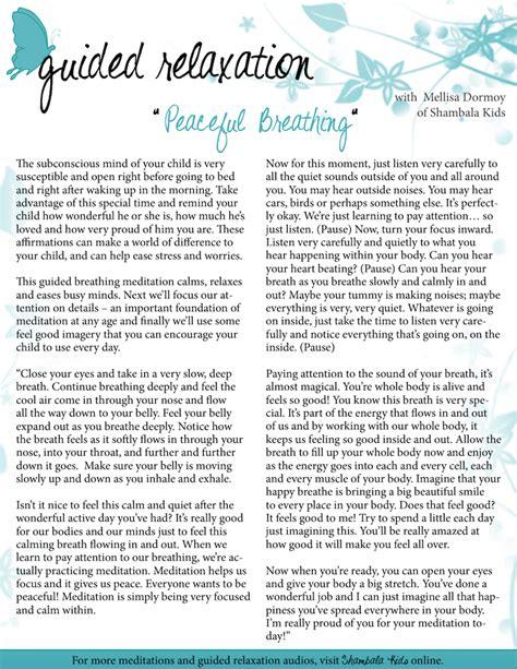 Free Guided Deep Breathing Meditation Script — Green Child